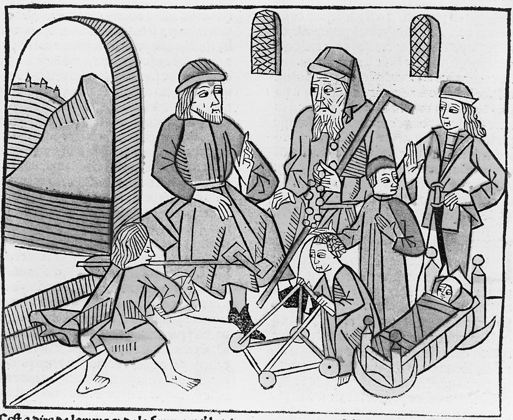 The stages of life from infancy to old age, 1486 von Barholomäus Anglicus. Wikimedia Commons